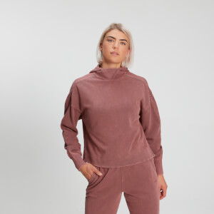 MP Women's Raw Training Washed Kapuzenpullover - Dezentes Rosa