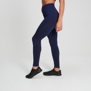 MP Women's Raw Training Ribbed Seamless Leggings - Midnight