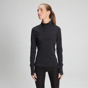 Power Ultra ¼ Zip Long Sleeve Top - Black