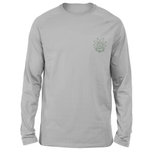 Rick and Morty Rick Embroidered Unisex Long Sleeved T-Shirt - Grey