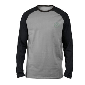 Rick and Morty Morty Embroidered Unisex Long Sleeved Raglan T-Shirt - Grey/Black