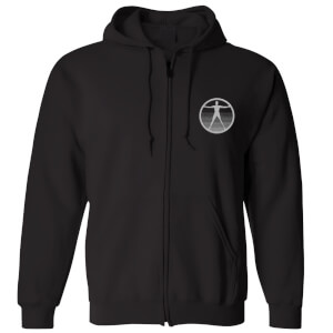 Westworld Logo Embroidered Unisex Zipped Hoodie - Black