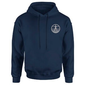 Westworld Logo Embroidered Unisex Hoodie - Navy