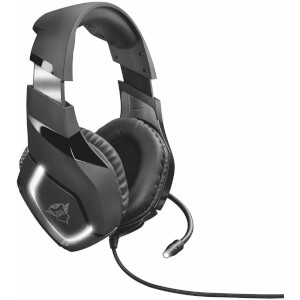 Trust Gaming GXT 380 Doxx Illuminated Headset for PC and Laptop, Inline Remote, Flexible Microphone - Black