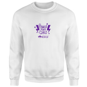 The Powerpuff Girls Thunderbolts Sweatshirt - White