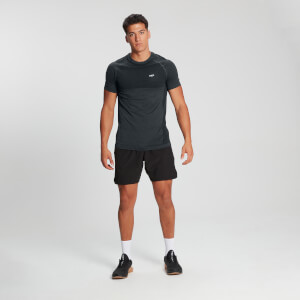 MP Men's Essential Nahtloses Kurzarm T-Shirt - Carbon Mergel