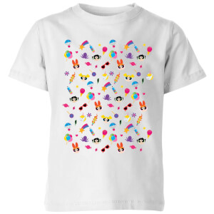 The Powerpuff Girls Pattern Kids' T-Shirt - White