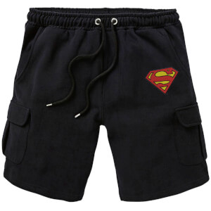 DC Superman Unisex Cargo Shorts - Black