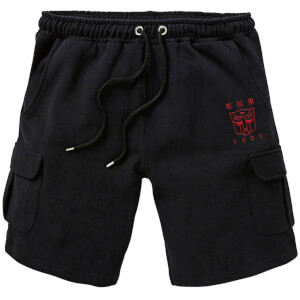 Transformers Autobots Embroidered Unisex Cargo Shorts - Black