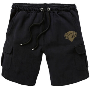 Harry Potter Gryffindor Embroidered Unisex Cargo Shorts - Black