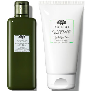 Origins Cheeks and Balances Face Wash and Treatment Lotion Bundle