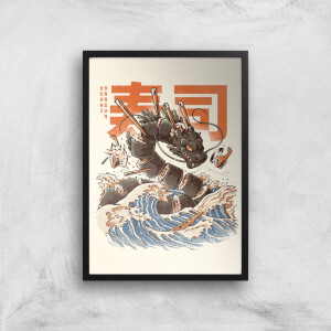 Ilustrata The Great Sushi Dragon Giclee Art Print