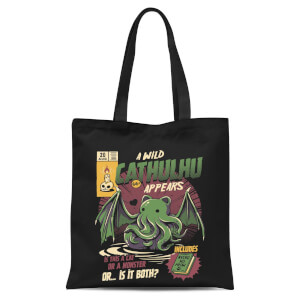 Ilustrata Cathulhu Tote Bag - Black