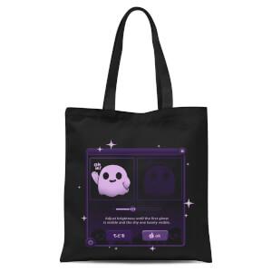 Ilustrata Dandere Ghost Tote Bag - Black