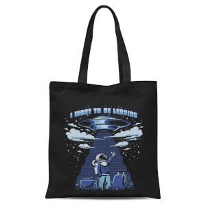 Ilustrata I Want to Be Leaving Tote Bag - Black