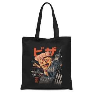 Ilustrata Pizza Kong Tote Bag - Black
