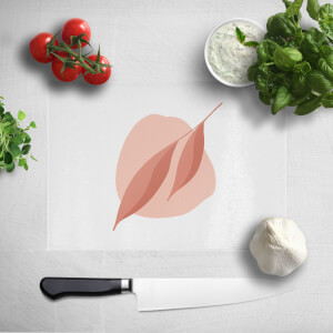 2 Leaves And Pink Rock Chopping Board