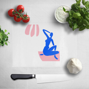 Silhouete Woman Chopping Board