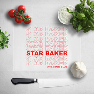 Star Baker With A Hand Shake Chopping Board
