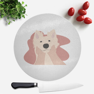Doggy Smiles Round Chopping Board