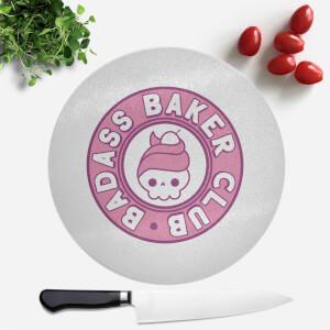 Badass Baker Club Round Chopping Board