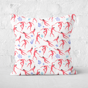 Dancing Silhouettes Square Cushion
