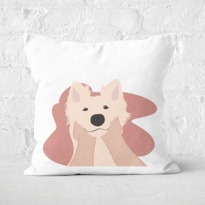 Doggy Smiles Square Cushion