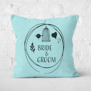 Bride And Groom Square Cushion