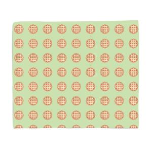 Pie Pattern Fleece Blanket