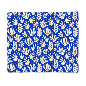 Cool Tone Leaves Fleece Blanket