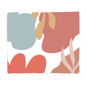 Abstract Clouds And Leaves Fleece Blanket
