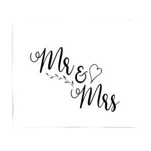Mr & Mrs Fleece Blanket