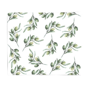 Olive Branch Fleece Blanket