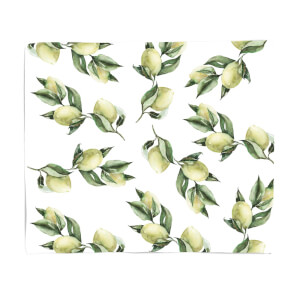 Printed Flowers Fleece Blanket