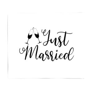 Just Married Signature Fleece Blanket