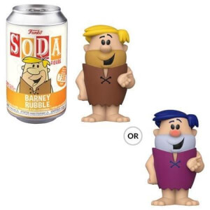 The Flintstones Barney Rubble Vinyl Soda Figure in Collector Can