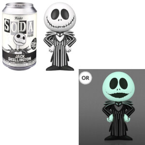 Disney Nightmare Before Christmas Jack Skellington Vinyl Soda Figure in Collector Can