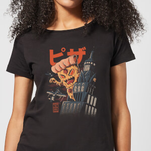 Ilustrata Pizza Kong Women's T-Shirt - Black