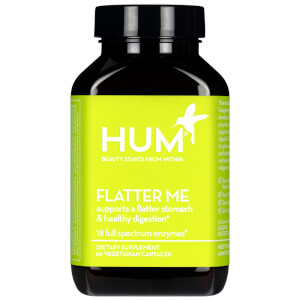 HUM Nutrition Flatter Me Healthy Digestion Supplement (60 Vegan Capsules, 30 Days)