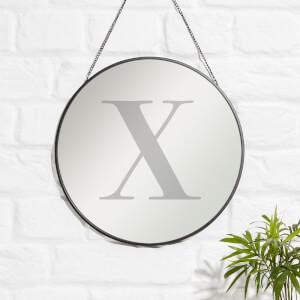 X Engraved Mirror