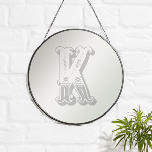 Circus K Engraved Mirror