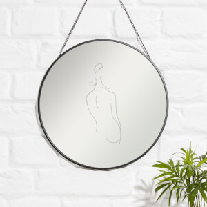 Artistic Lady Engraved Mirror