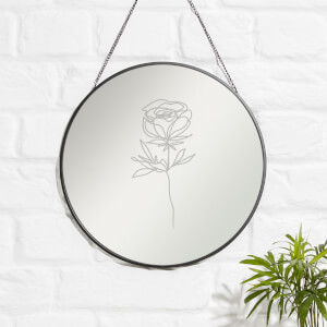 Rose Engraved Mirror