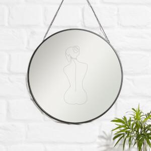 Sat Down With Bun Engraved Mirror