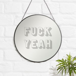 Fuck Yeah Engraved Mirror