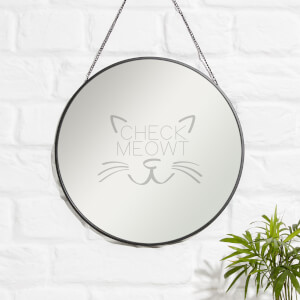 Check Meowt Engraved Mirror