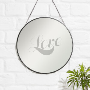 LOVE Engraved Mirror