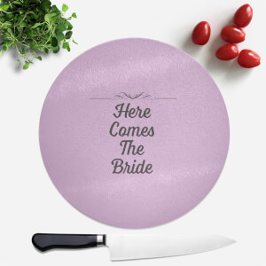 Here Comes The Bride Round Chopping Board