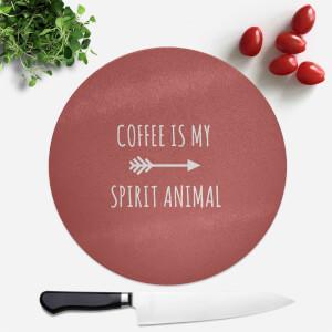 Coffee Is My Spirit Animal Round Chopping Board