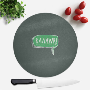 Raaawr Round Chopping Board